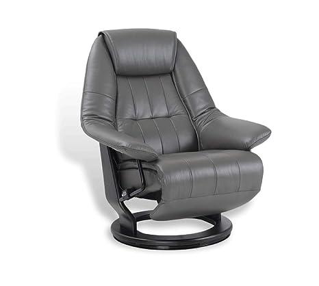 EROS - Sillón de Relax eléctrico, Muy cómodo, de Piel Gris ...