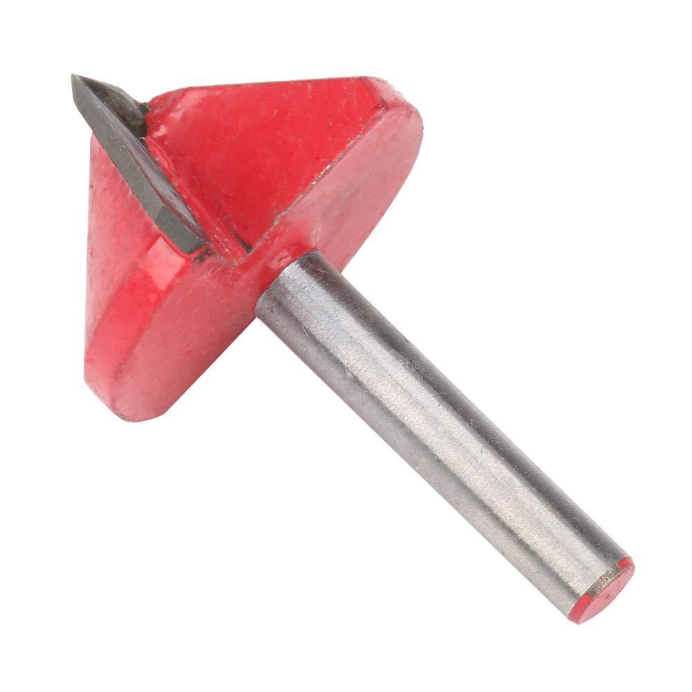 Broca de Corte Herramienta para Cortar Ranuras en V Herramienta de Corte de 6 mm Eje para carpinteros y Aficionados Profesionales Riuty Fresa de Corte 10#