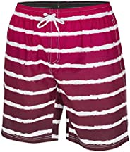 ICE CROSS Men's Swim Shorts - Quick Dry Swim Suit for Men with Pockets and Liner