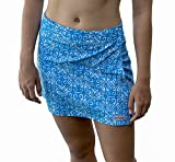 RipSkirt Hawaii - Length 1 - Quick Wrap Athletic Cover-up that Multitasks as the Perfect Travel/Summer Skirt , Blue Ulupua , X-Small / 00-2