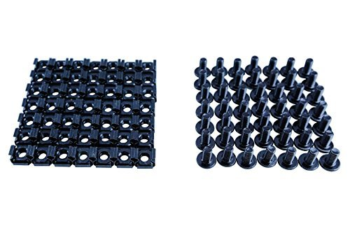 M6 (12mm) Nuts and Screw 50pc Screw with Cage nuts Black for server rack cabinet