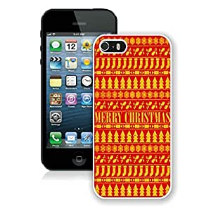 Personalize offerings Iphone 5S Protective Case Merry Christmas iPhone 5 5S TPU Case 15 White