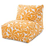Majestic Home Goods Yellow Plantation Bean Bag Chair Lounger