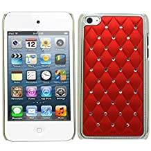Samrick All Star Bling Diamante Protective Case for Apple iPod Touch 4 4th Generation - Red
