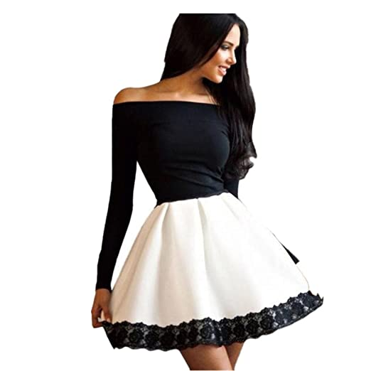 4972909a9d HODOD Fashion Women s Casual Long Sleeve Casual Evening Party Dress at  Amazon Women s Clothing store