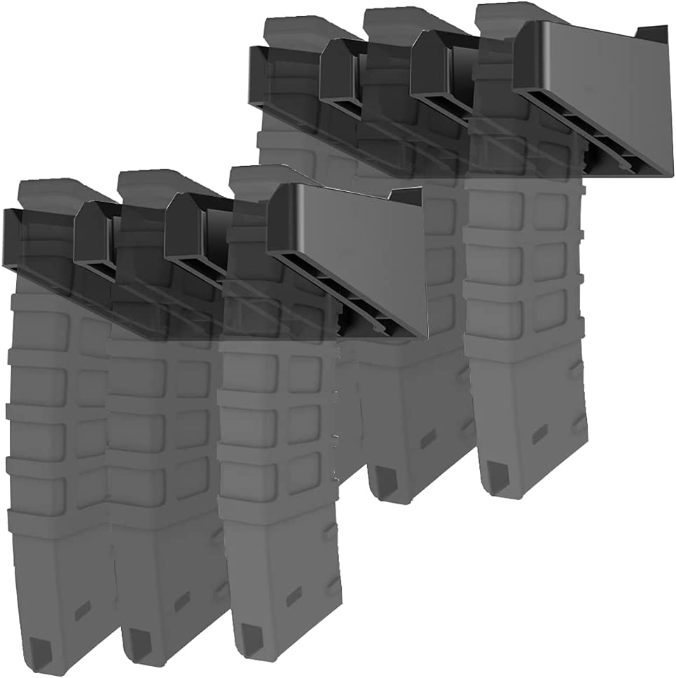 Taiyiyun Solid ABS Standard PMAG Wall Mount,Gun Mag Holder,Wall Storage Organization System,Home & Gun Room Mounting Magazine Storage Rack,2 Mounts Hold 6 Mags