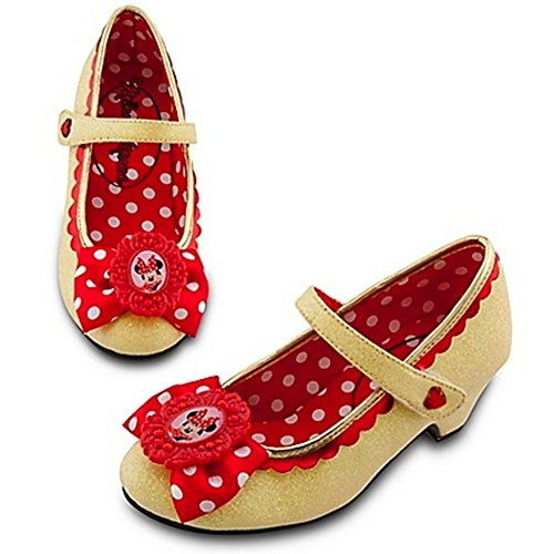 Disney Store Minnie Mouse Classic Yellow Costume Shoes/Slippers Size (Minnie Mouse Classic Adult Costumes)