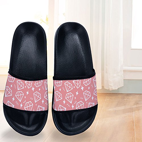 Non Black Buteri Slippers Slippers Slip Womens Drying for Pink Flash Quick Diamond 7qPIw