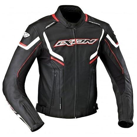 Ixon - Chaqueta Moto - Ixon stunter Negro/Blanco/Rojo - 4 x l: Amazon.es: Coche y moto