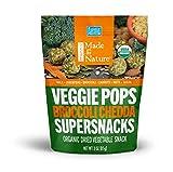 Made in Nature Organic Veggie Pops - Broccoli Chedda 3oz (pack of 6) - Non-GMO Vegan Veggie Snack