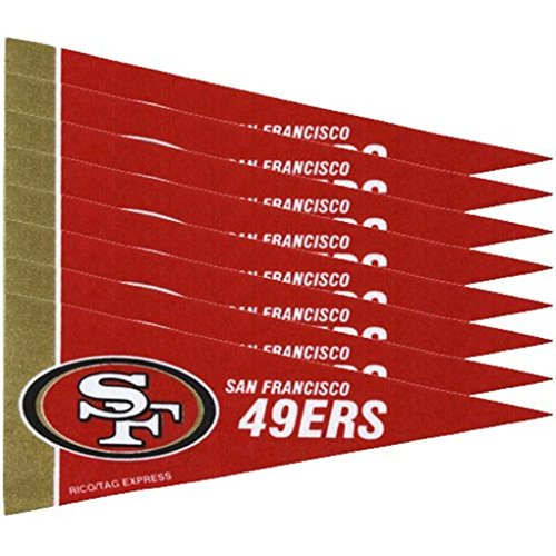 League Mini Pennant - San Francisco 49ers NFL Mini Pennant Set (8)