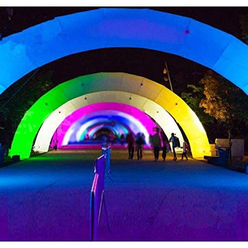 Foammaker Promotional LED Lighting Inflatable Arch Color Change Blow up Lighting Archway for Event Parties Toys (12m Width)