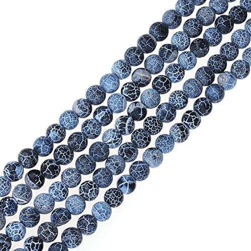 - FANGQUN Natural Frosted Beads for Jewelry Making Natural Stone Loose Beads for Bracelets Necklace Anklets(6mm, 60pcs)