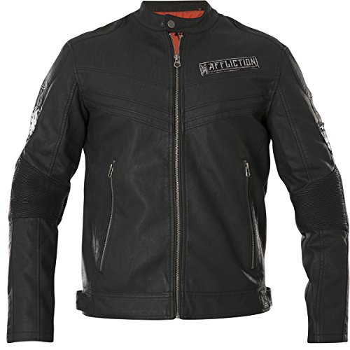 (Affliction Men's Dual Piston Black Jacket)