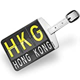 Luggage Tag HKG Airport Code for Hong Kong - NEONBLOND