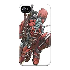 Scratch Resistant Cell-phone Hard Covers For Apple Iphone 4/4s With Allow Personal Design High Resolution Deadpool Pictures LisaSwinburnson