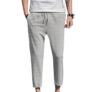 Pantalones Slims de los Hombres Pantalones Casuales Pantalones de ...