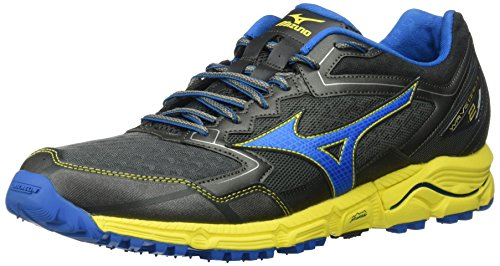 Mizuno Men's Wave Daichi 2 Running Shoes, Castlerock/Directoire Blue/Blazing Yellow, 8 D US