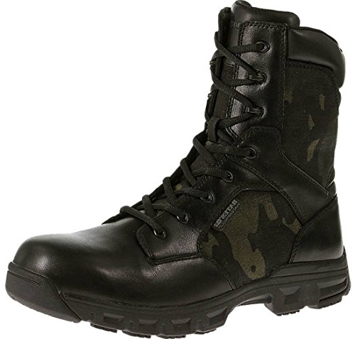 Bates Code 6 MultiCam Waterproof Tactical Duty Boots, BLK/MULTICAM, 8.5 2E