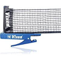 A2Z HUB Innovative Retractable Table-Tennis Net with Adjustable Length and Push Clamps, Blue