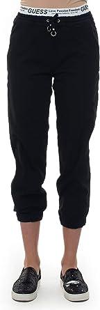 Guess - Pantalón de chándal Negro de poliéster para Mujer Negro ...