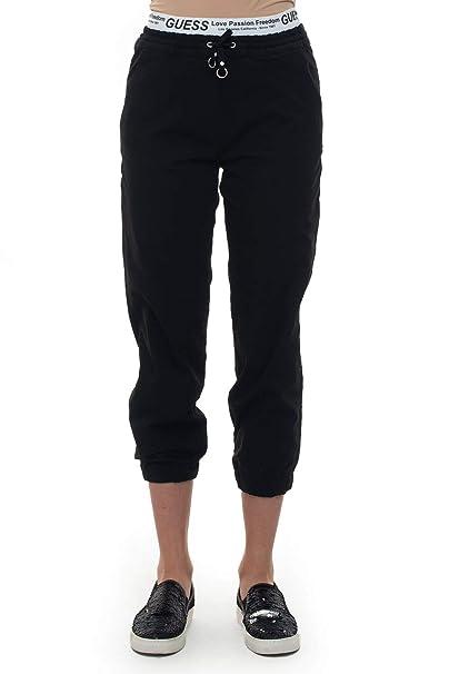 Guess - Pantalón de chándal Negro de poliéster para Mujer Negro M ...