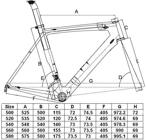Flyxii Full Carbon UD Matt Road Bike 700C Frameset : Bicycle Frame 50cm Fork Seatpost Clamp ( For BB30 )