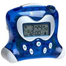 Oregon Scientific RM313PNA Self-Setting Projection Alarm Clock with Indoor Thermometer, Blue by Oregon Scientific