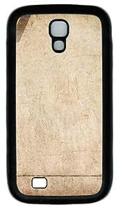 Brown Retro Grunge Texture Custom Designer Samsung Galaxy S4 Case and Cover - TPU - Black
