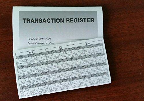 6   Checkbook Registers   2017 18 19 Calendar   Transactions Checking Book