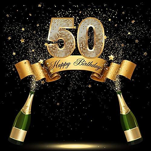 10 x 10 pies Happy 50th cumpleaños Fondo 50 años Antiguo ...
