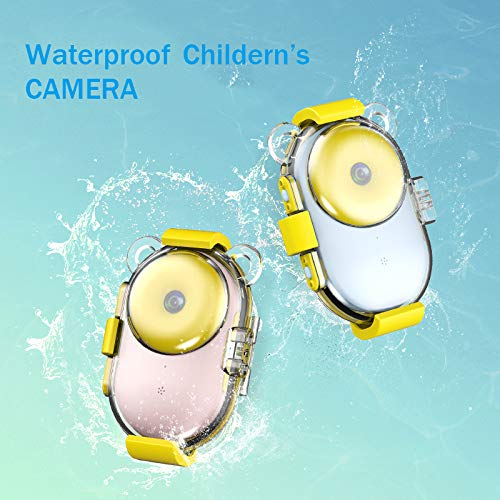 RONSHIN Kids Camera, Cute Donut Video Children HD Color Image Cartoon Kids Digital Camera Waterproof Toy Blue No WiFi by RONSHIN