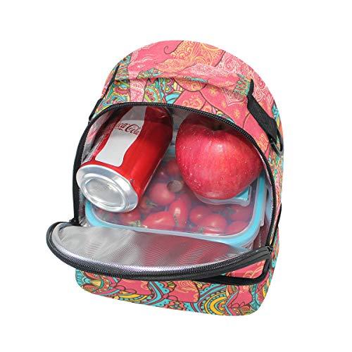 escuela de ajustable para con hombro retro con correa de elefante la de Alinlo aislante el pincnic para almuerzo Bolsa ga8fOT