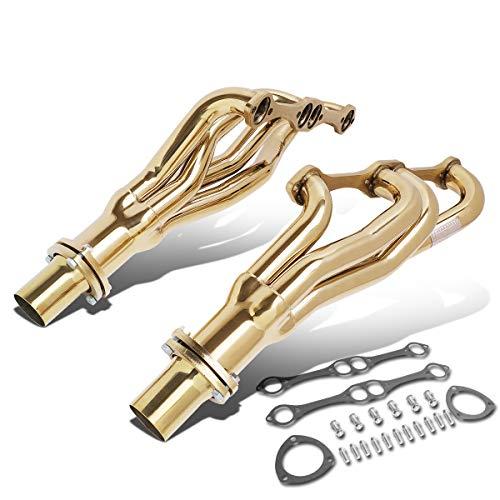 DNA Motoring J2 J2-HD-GOLD-008 Chevy SBC Small Block Engines Long Tube Exhaust Header Manifold
