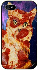 iPhone 5 / 5s Pizza cat, space - black plastic case / Cats, Hipster