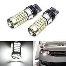 iJDMTOY (2) Xenon White 69-SMD 7440 T20 LED Bulbs for 2012-2015 Volkswagen B7 Passat Beetle Daytime DRL Lights