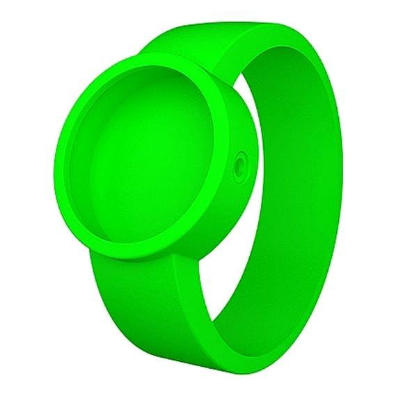 Fullspot O clock OCS24-X - Correa de reloj de goma de silicona hipoalergénica verde fluorescente: Amazon.es: Relojes