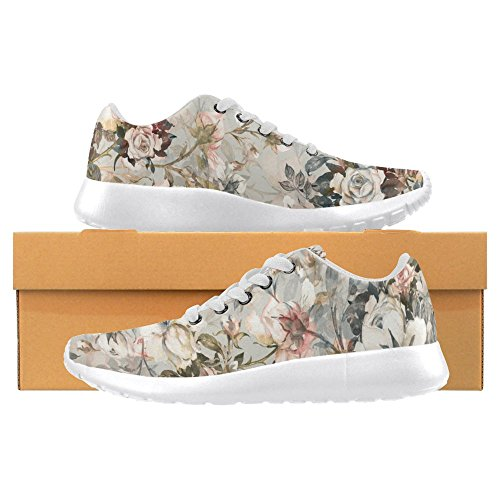 Interestprint Womens Loafers Klassiska Avslappnade Kanfassnedsteget På Mode Skor Gymnastik Mary Jane Platt Multi 32