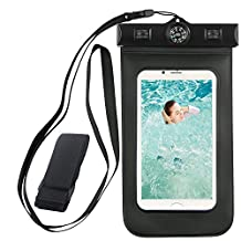 Taslar(TM) Waterproof Armband, Built-in Compass,Bag universal upto 5.5 inch for Moto G4 Plus, Meizu M3 Note, Zuk Z1, Redmi Note 3, Redmi Note 4, iPhone 6 Plus/6/6s/5s/5c/SE,Samsung Galaxy S7/S6/EDGE/S5/S4/NOTE 4/3/2, Leeco Le 2, Huawei Honor 6X, Lenovo Vibe K5, Mi 5, Vibe K5 Note, Oneplus 3/3T, Coolpad Note 3, Redmi 3S Prime, Xperia Xa Dual, iPhone 7, iPhone 7 Plus, Coolpad Note 5, Moto G4 Play, Moto Z for Boating/Hiking/Swimming/Diving [Black]