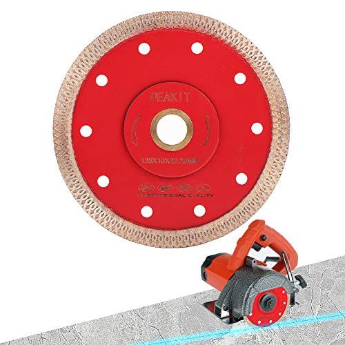 Peakit Dry Wet Tile Cutter Blade 5 Inch Diamond Blade Cutting Disc for Porcelain Ceramic Granite for Grinder or Tile Saw
