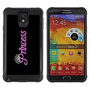 Suave TPU Caso Carcasa de Caucho Funda para Samsung Note 3 / Black Pink Silver Diamond Tiara / STRONG