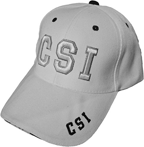 CSI Hat White Baseball Cap]()
