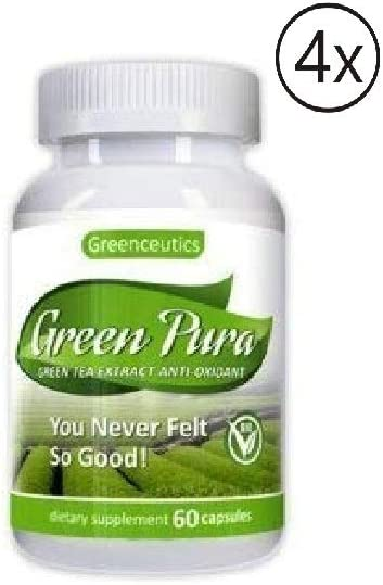 Green Tea Extract Diet Pill for Weight Loss, Fat Burn, Increased Metabolism, Antioxidant Dietary Supplement 60 Capsules Pack 4