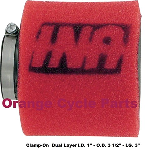 Uni 2-Stage Straight Pod Filter 26mm I.D. x 76mm Length UP-4112ST