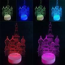 3D Illusion LED Night Light Castle By AZALCO