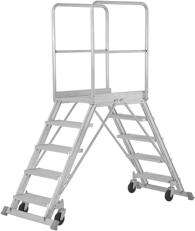 Base hymer escalera móvil, accesible por ambos lados, base tamaño 600 x 800 mm, 2 x 7 niveles, alto 1700 mm, peso 54 kg: Amazon.es: Bricolaje y herramientas