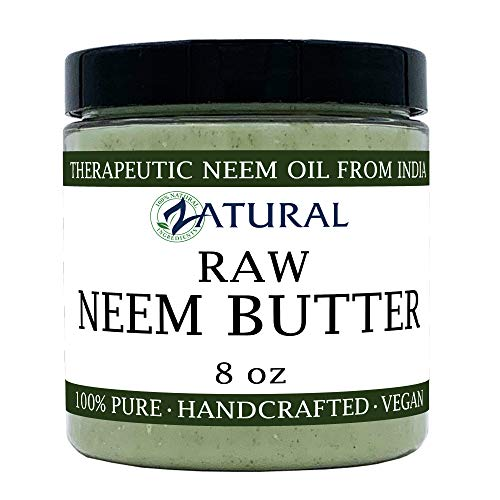 Organic Neem Butter-Shea Butter, Coconut Oil, Neem Oil, Neem Leaf, Marula Oil, Kokum Butter, Rosemary (8 Ounce) (Best Moisturizer For Body In India)
