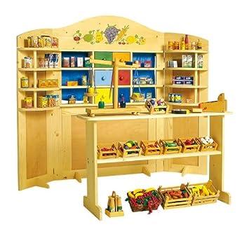 Legler Kinder Holz Kaufladen Kasperletheater Kombi