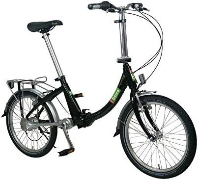 Beixo bicicleta plegable con cardan - Compact Low Black: Amazon.es ...