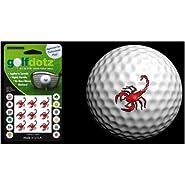 Golfdotz Golf Ball Transfers - Personalize Your Golf Ball - Red Scorpions